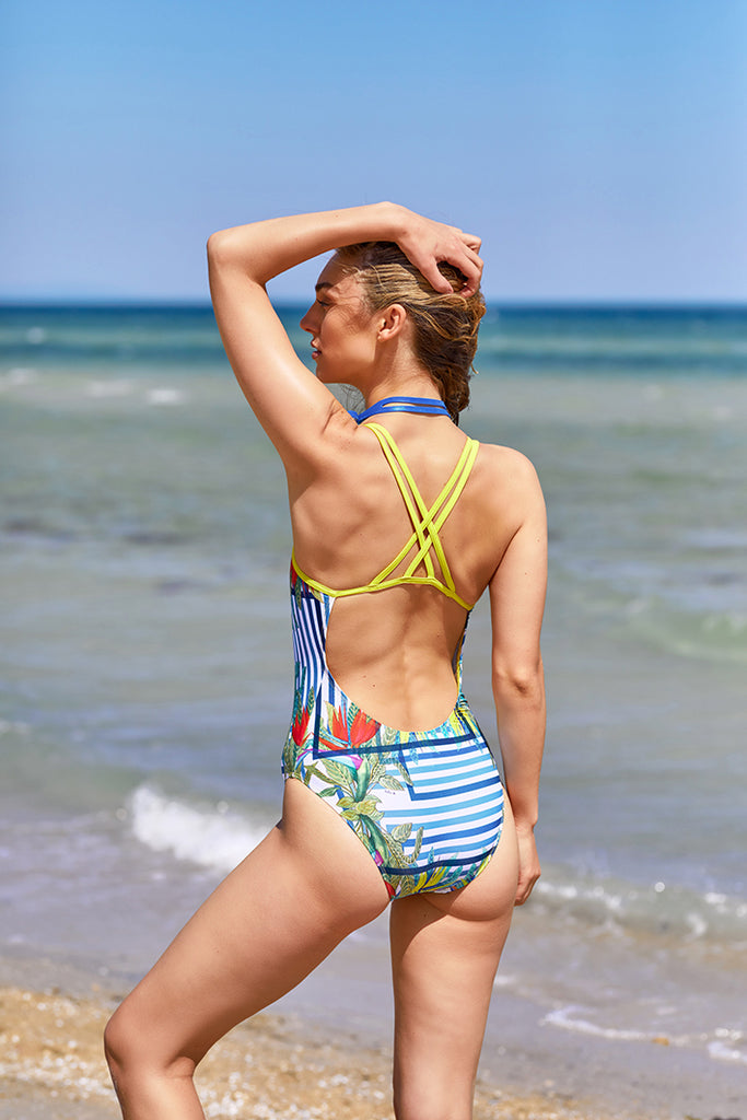 womens athletic one piece swimsuit