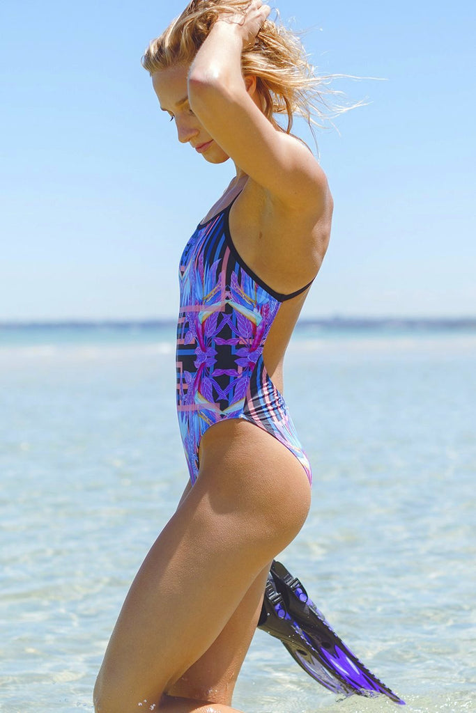 Somersault Women's One Piece Swimsuit in Blue Paradise Print