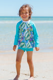 Action Baby Sun Guard in Lush Garden Print