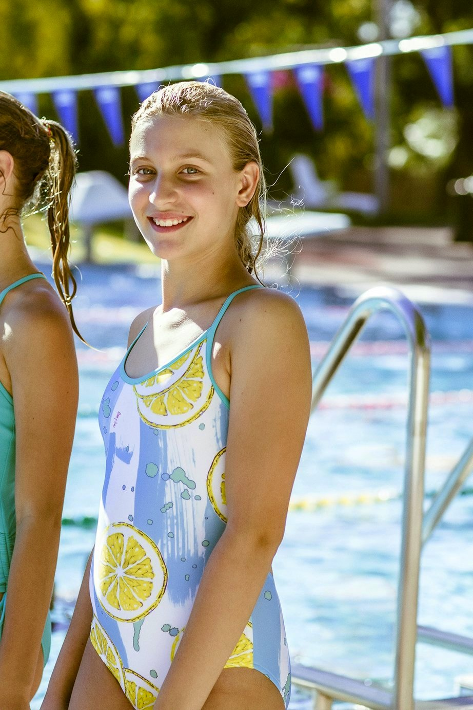 Angel Girls One Piece Swimsuit in Colour Lemonade