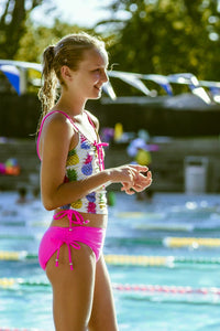 Barbie Tankini Girls Swimsuit in Colour Pineapple Pink