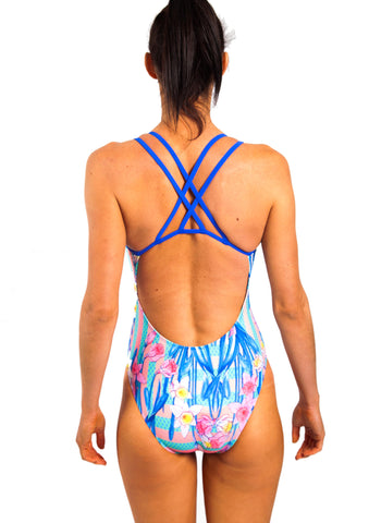 Freestyle Women's One Piece Swimsuit in Daffodil Passionfruit Print
