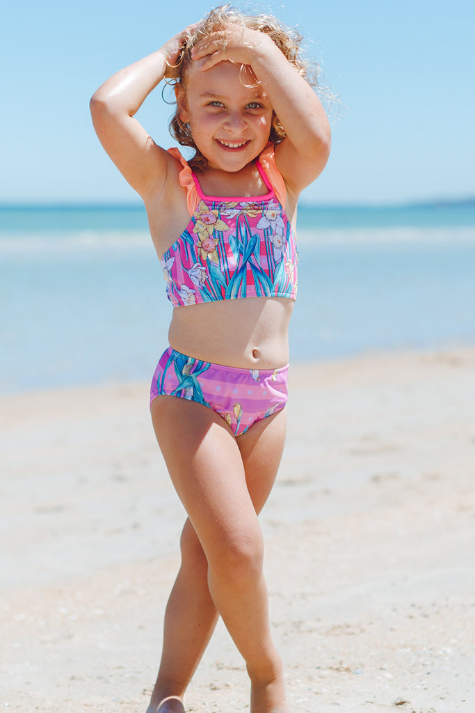 kids frill two piece swimsuit