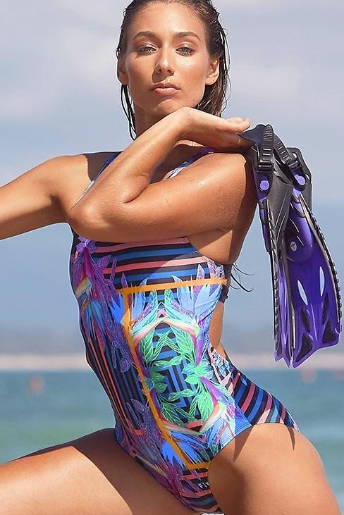2018 Kylie Elite One Piece - Blue Paradise