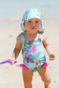 Mermaid Baby One Piece Swimsuit in Minty Dream Print