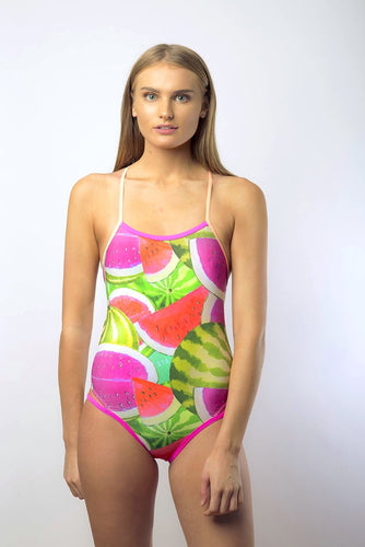 Race Me Women's One Piece Swimsuit in Colour Watermelon