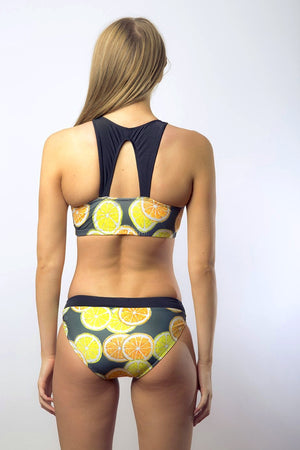 Stacy Women's Two Piece Bikini in Lemon + Lime Print