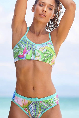 Star Struck Women's Two Piece Bikini in Crisp Mint Print