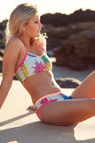 Star Struck Women's Two Piece Bikini in Pineapple Pink Print