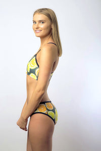 Star Struck Women's Two Piece Bikini in Colour Lemon + Lime