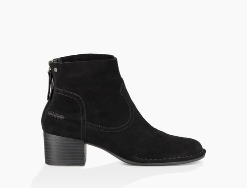 Bandara Suede Ankle Boot Black