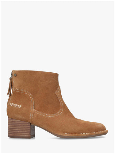 Bandara Suede Ankle Boots Chestnut