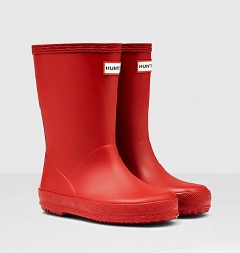 Hunter Kids First Classic Wellington Boots Red