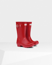 Load image into Gallery viewer, Hunter Original Kids Wellington Boots Red