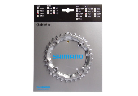Chainring Shimano Deore FC-M510 Silver, 32T, 4H