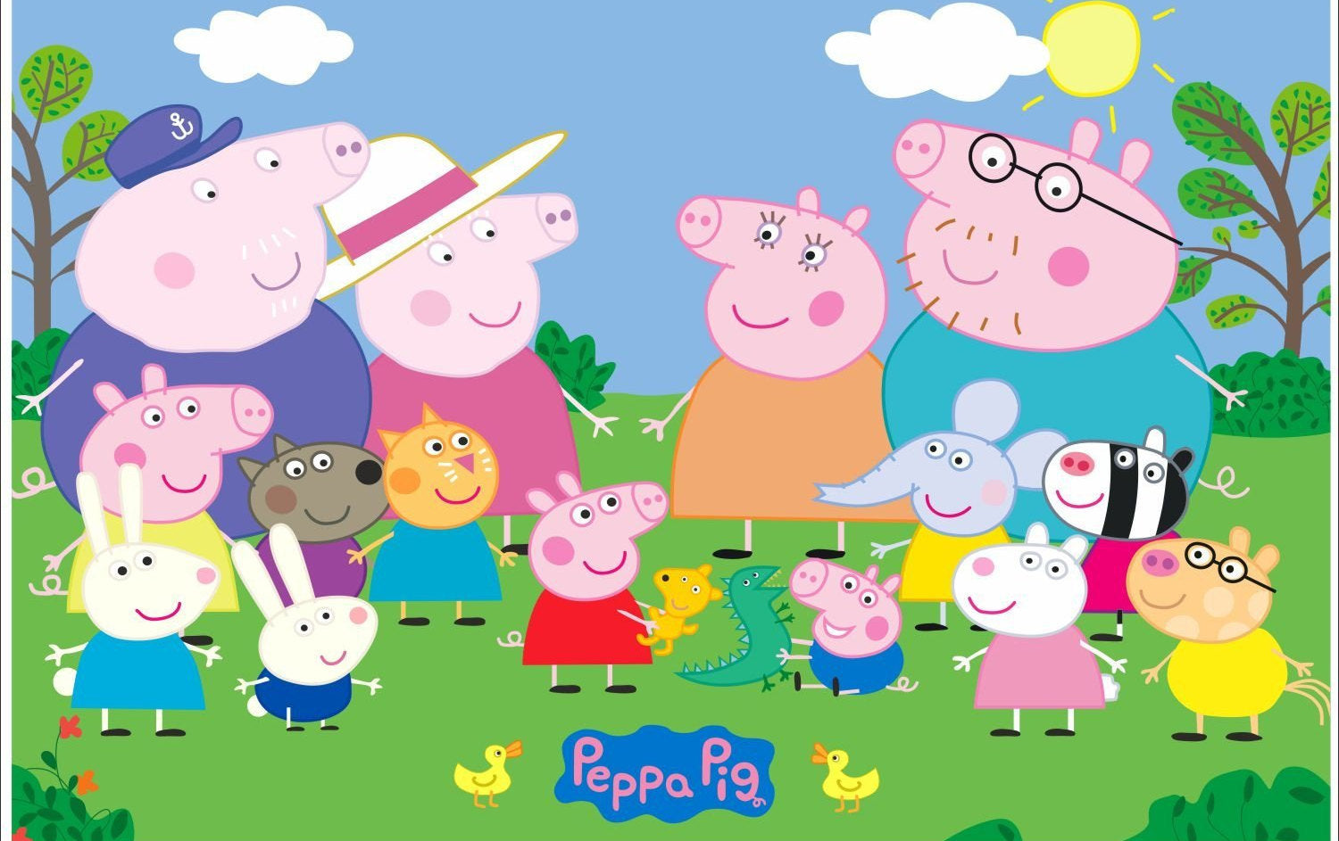Peppa Pig Wallpaper For Kid S Room Wallpaper Decal Version2