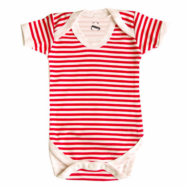 Red and white bodysuit