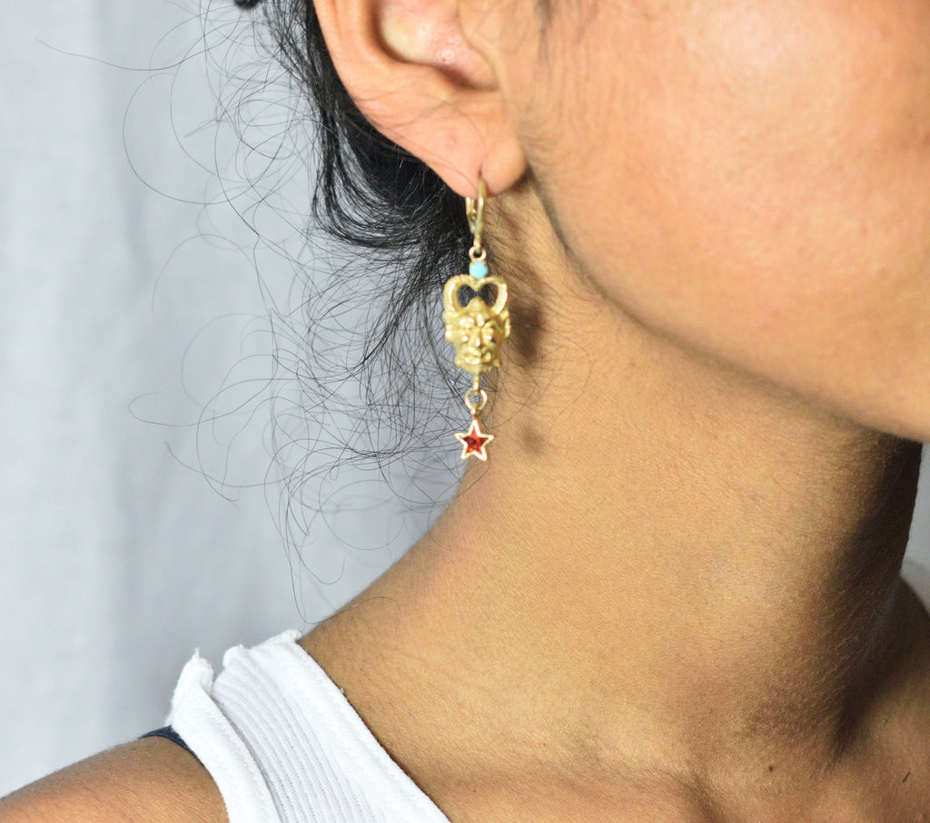 Satyr Drop Earrings - Leo Collective