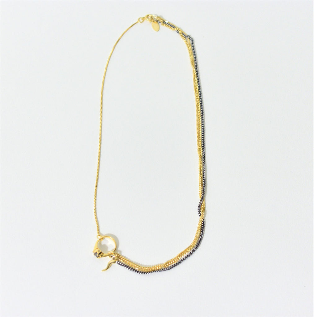 Tiny Ring Necklace - Leo Collective