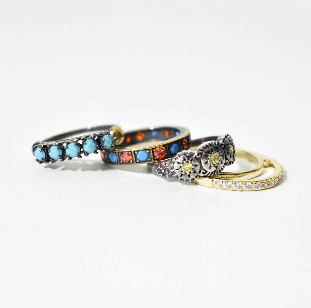 Club Africana Stack Rings - Leo Collective