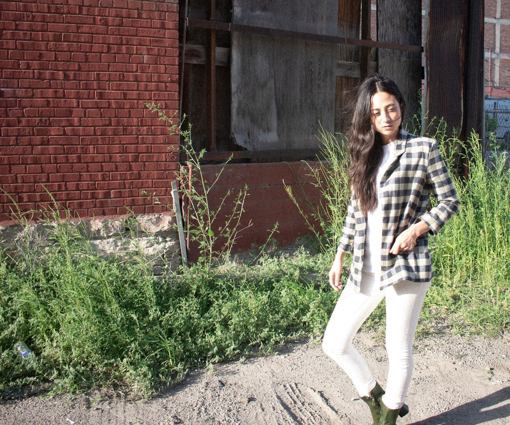Moss Plaid Blazer - Leo Collective