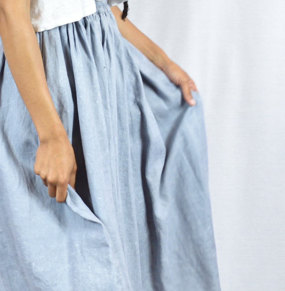 Mysayang Mawar Cloud Linen Skirt Size S/M - Leo Collective