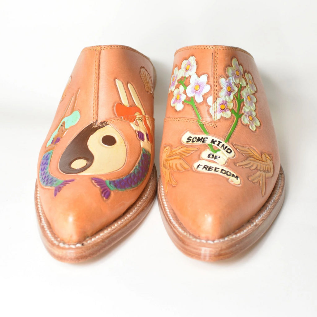 Brother Vellies Mermaid Doodle Mule Made in Mexico - Leo Collective
