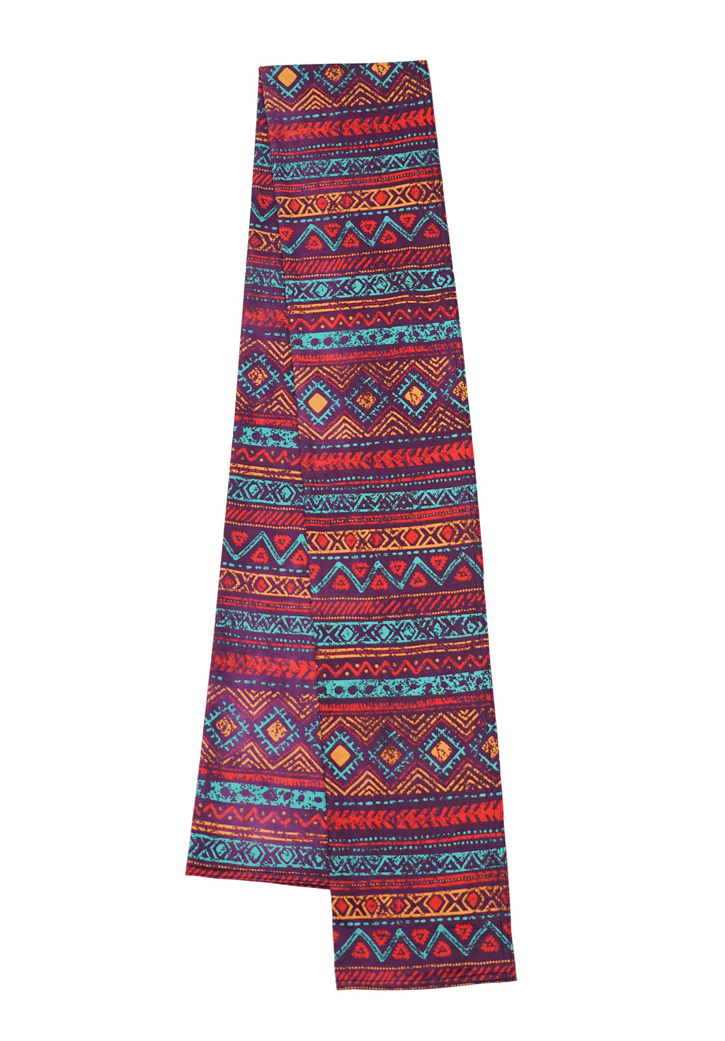 Super comfortable music festival pashmina. Unique tribal patterns with vibrant red, purple, teal, orange, and red colors. The perfect music festival accessory that can be used as a face mask.