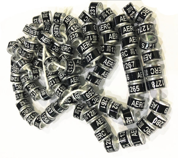 10mm *7mm colorful 2019 customized personal racing pigeon ring for leg  birds bands writ name image phone logo year 100pcs