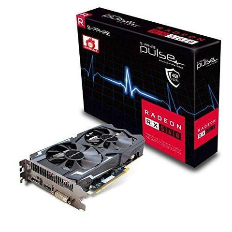Radeon Pulse RX 560 4GB GDDR5 HDMI / DVI-D / DP OC (UEFI) PCI-E Graphics Card