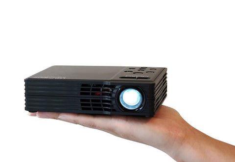 LED Showtime 3D Pico/Micro Projector with LED, WXGA 1280x800 Resolution, USB Media Player and HDMI Projector
