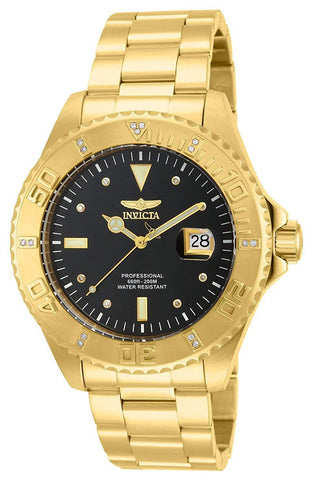 """Pro Diver"" 18k Yellow Gold Ion-Plated Stainless Steel and Diamond Accent Watch"