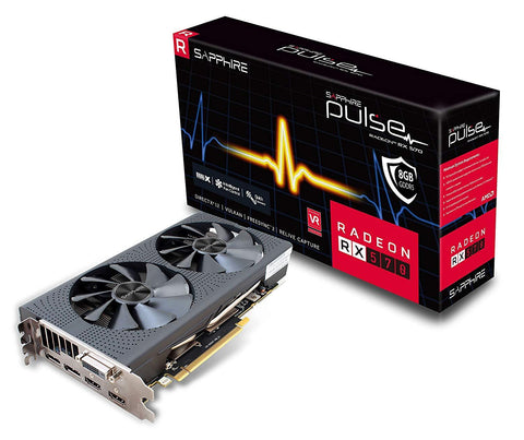 Radeon Pulse RX 570 8GB GDDR5 Dual HDMI/DVI-D/Dual DP OC with Backplate (UEFI) PCI-E Graphics Card