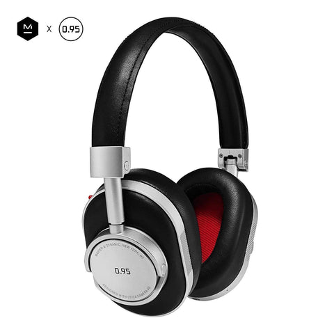 Dynamic MW60 Leica Edition Headphones, Premium Leather Over-Ear Headphones with Extended Bluetooth 4.1 Range & 45mm Neodymium Driver, Silver Metal/Black Leather