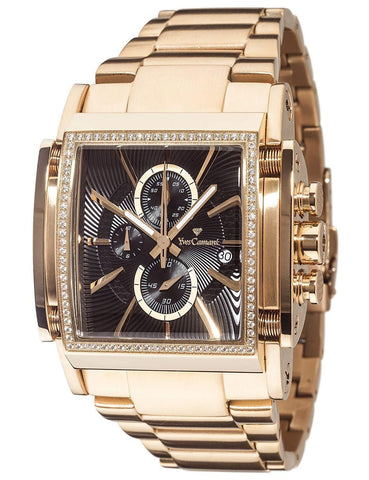 Escaut Men's Quartz Watch Stainless Steel Gold Chronograph YC1060-F Gold Plated Strap