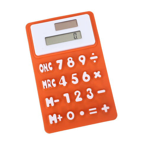 Mini Silicone Calculator Solar Cell Creative School  8-Digit Kids