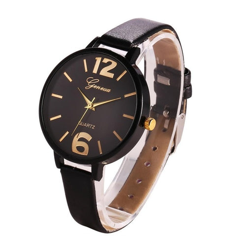 Design Quartz Artificial Women Band Simple Leather Watch