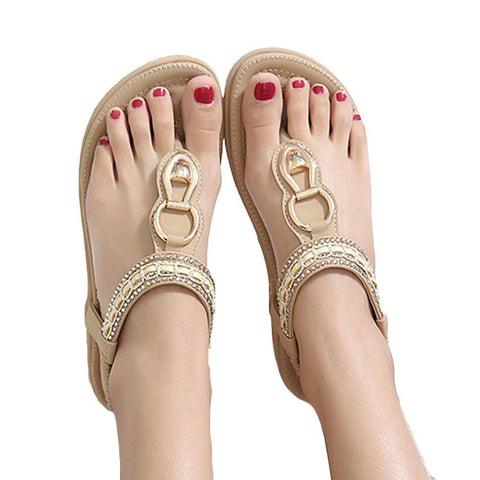 Flat Sandals Ladies Bohemia Beach Flip Flops Shoes Sandles