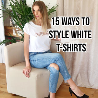 15 Ways to Style White T-shirts