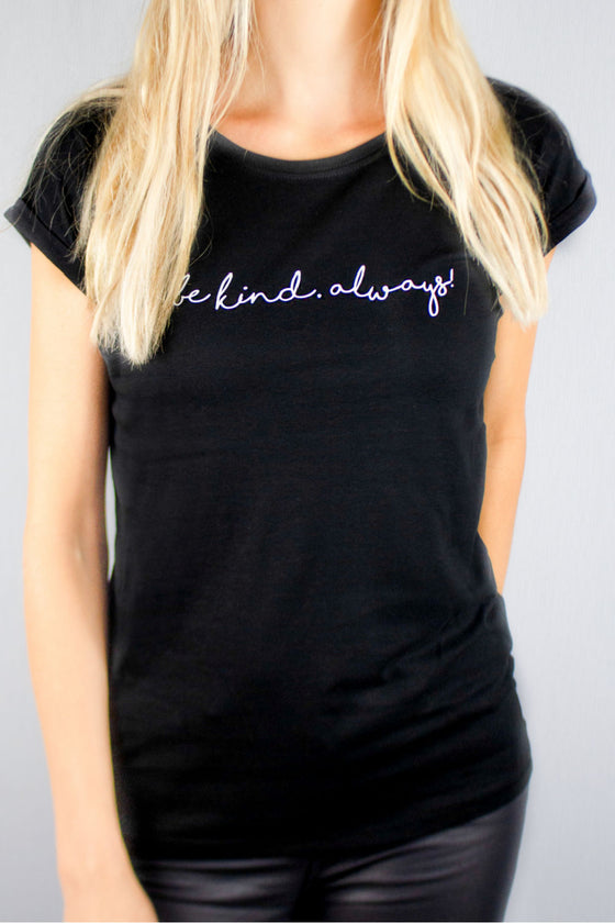 Be Kind Always tee black and white by Mama Life London