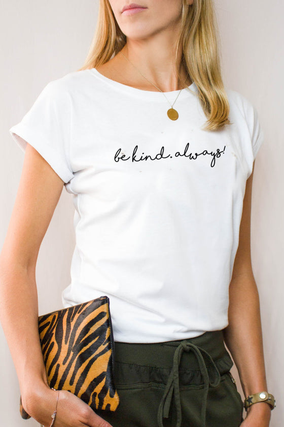 Be Kind Always tee white and black by Mama Life London