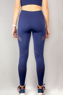 Back of the navy Mama Life London seamless leggings