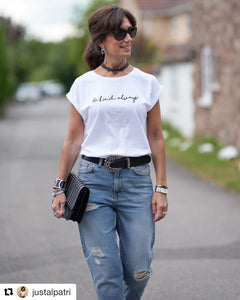Be kind, always! white t-shirt