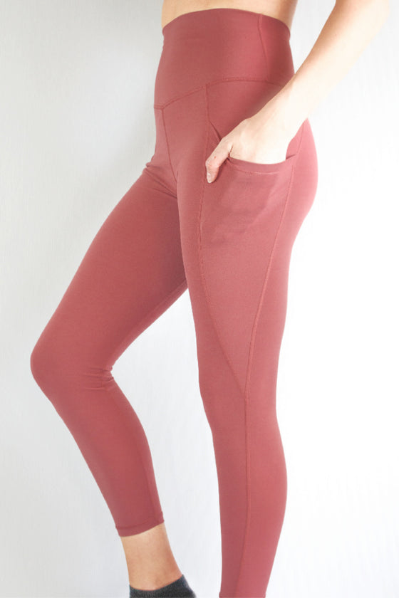 Dusty pink leggings by Mama Life London