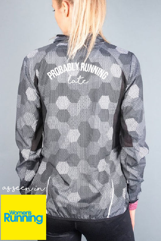 Probably Running Late reflective running jacket from Mama Life London