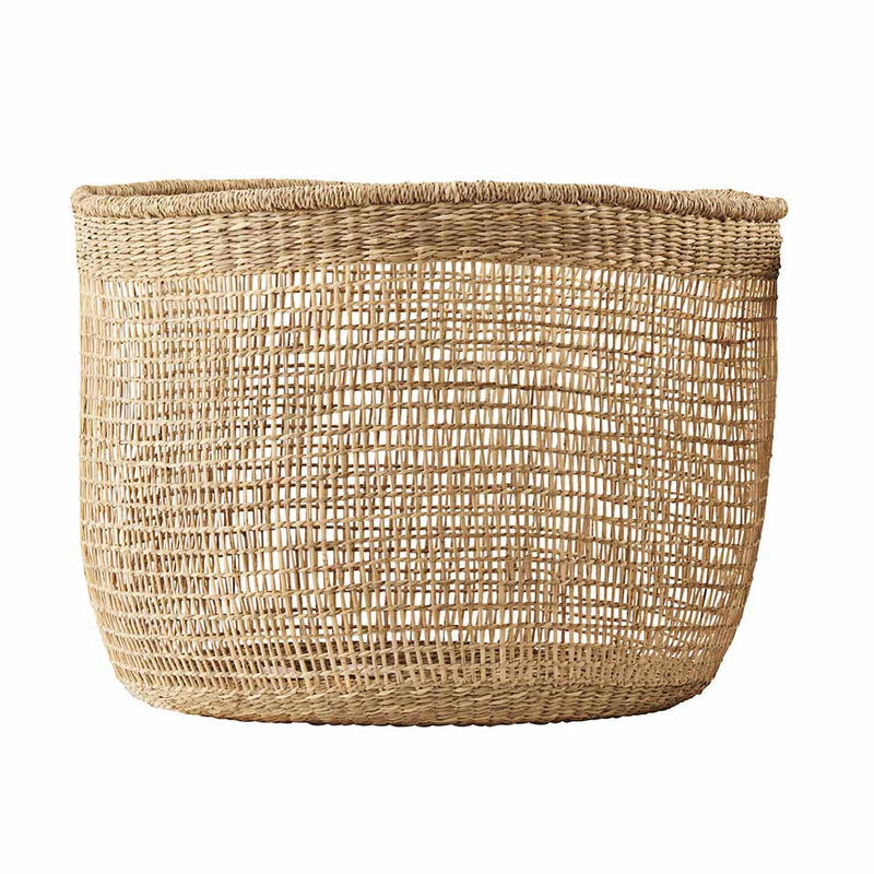 Panier en raphia naturel Large
