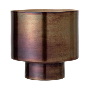 Cache-pot en aluminium marron