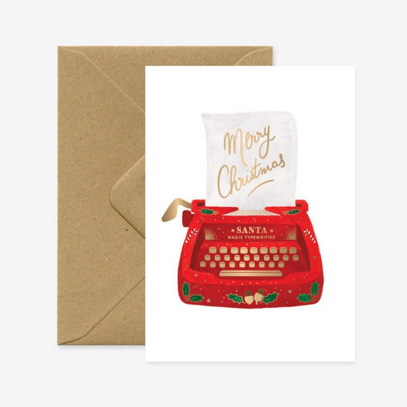 Carte de vœux _ Christmas Typewritter