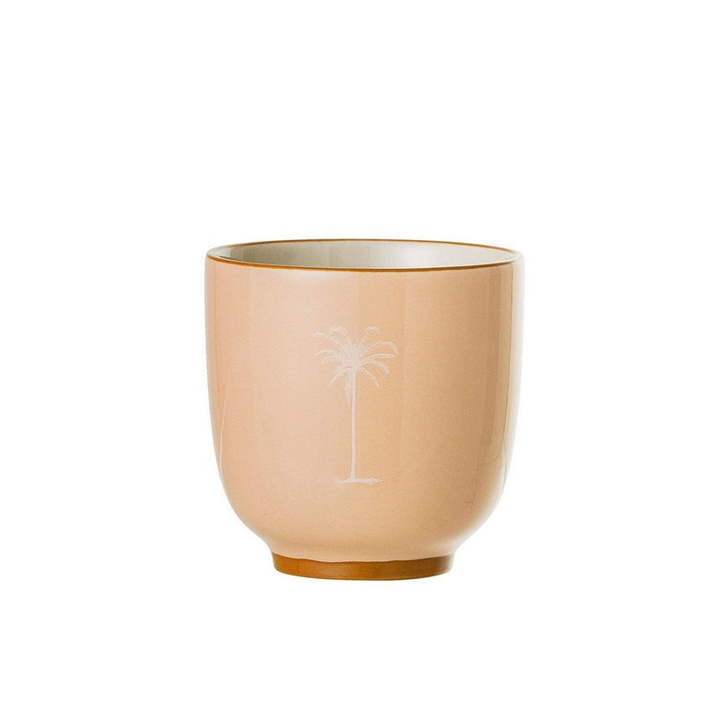 Mini cache-pot Palm beige