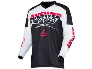 Maillot ANSWER Syncron Pro Glow Junior White/Black/Pink
